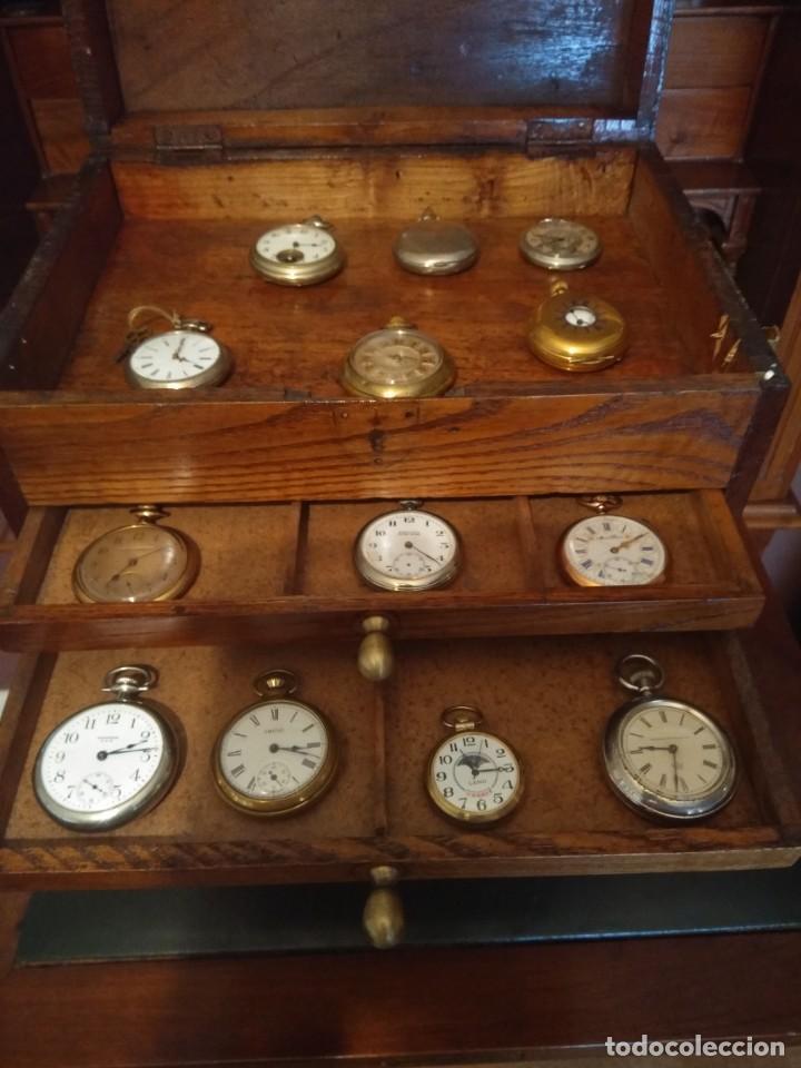 Herramientas de relojes: Mueble (armario) de relojero en madera - Foto 11 - 166782534
