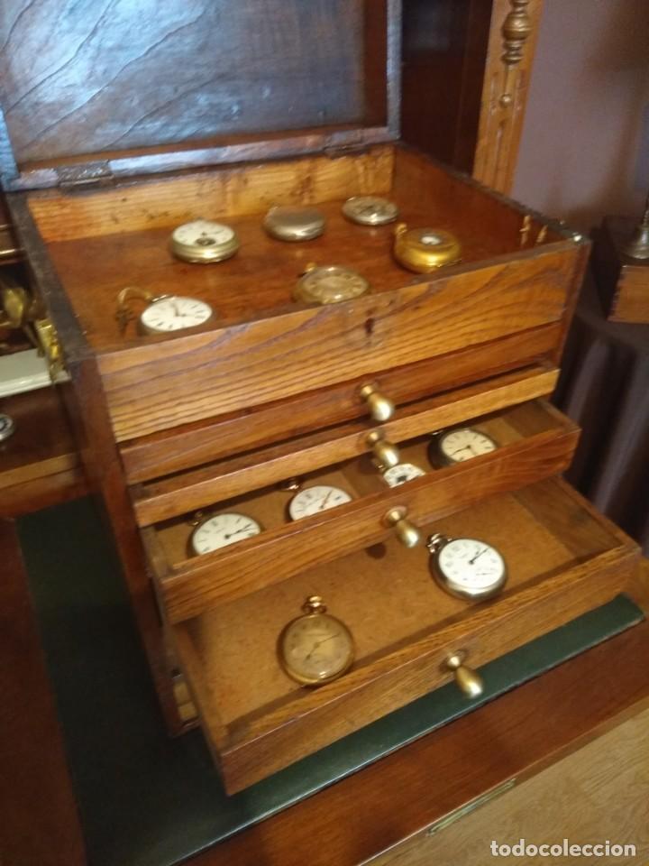 Herramientas de relojes: Mueble (armario) de relojero en madera - Foto 12 - 166782534