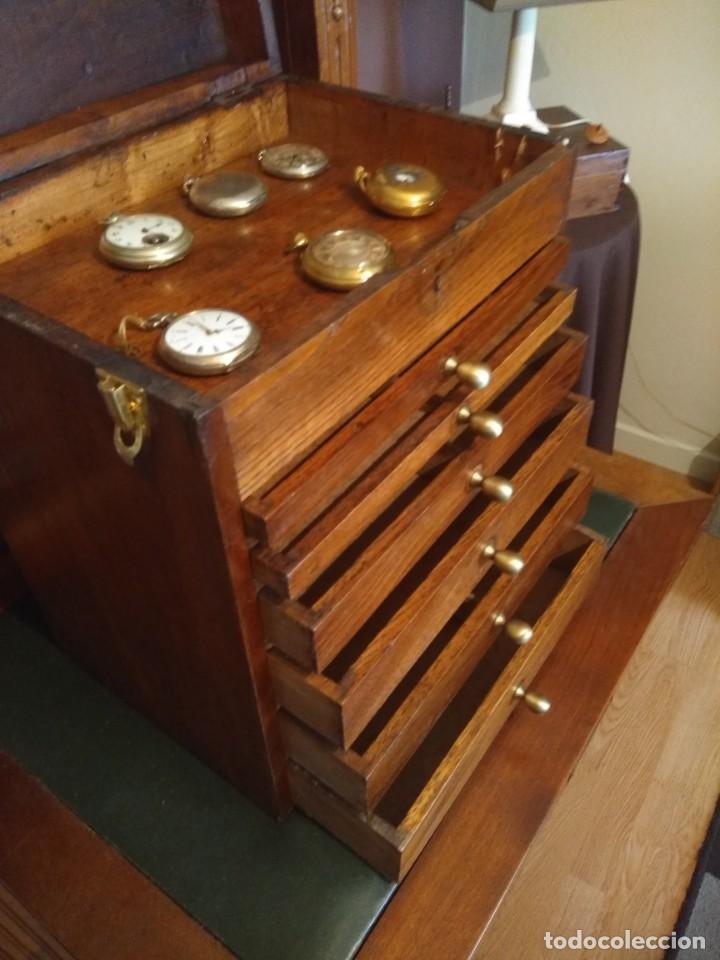 Herramientas de relojes: Mueble (armario) de relojero en madera - Foto 13 - 166782534