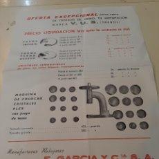 Herramientas de relojes: RELOJERÍA F.GARCIA MADRID Y BARCELONA.. Lote 167711308