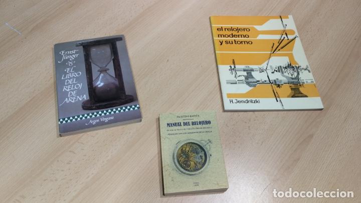 Herramientas de relojes: TRES GRANDES LIBROS DEL RELOJ, RELOJERÍA, DEL ARTE RELOJERO - Foto 2 - 167837412