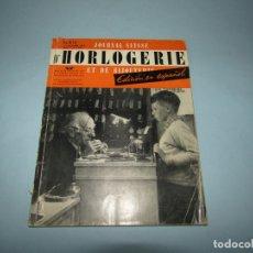 Herramientas de relojes: ANTIGUA JOURNAL SUISSE DE HORLOGERIE ET BIJOUTERIE EDICIÓN EN ESPAÑOL DEL AÑO 1949. Lote 167916996