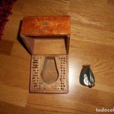 Herramientas de relojes: CAJA MADERA PUNZONADORA BOLEY ,SWISS MADE SWISS ORIGINAL CON UTILES. Lote 168788064
