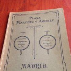 Herramientas de relojes: CATALOGO FORNITURAS PLANA MARTÍNEZ Y AGUIRRE. Lote 169991714