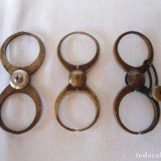 Herramientas de relojes: TRES ANTIGUOS CALIBRES DE RELOJERO. Lote 172887769