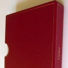 Herramientas de relojes: FUNDA CARTIER PARA COLOCAR GARANTIA E INSTRUCCIONES DE RELOJES DE LA MARCA.PIEL COLOR ROJO. Lote 173985985