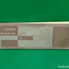 Herramientas de relojes: INSTRUCCIONES DE RELOJ CASIO MODELO 1174. Lote 174090568