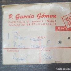 Herramientas de relojes: PIÑON DE CANTO Y PIÑON DE RANURA CYMA CALIBRE 300. Lote 175325427