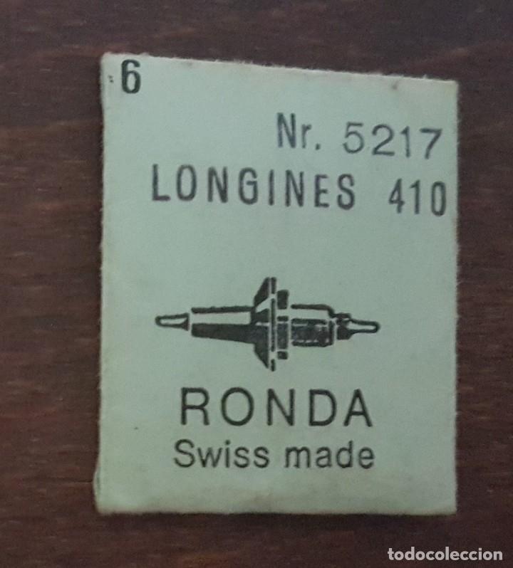 LONGINES 410 - 6 EJES DE VOLANTE NUEVOS (Relojes - Herramientas y Útiles de Relojero )
