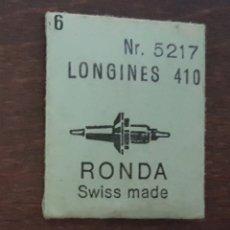 Herramientas de relojes: LONGINES 410 - 6 EJES DE VOLANTE NUEVOS . Lote 175349670