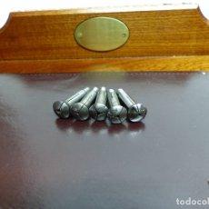 Herramientas de relojes: 5 PINZAS DE 6 MM. PARA TORNO DE RELOJERO. Lote 176050670