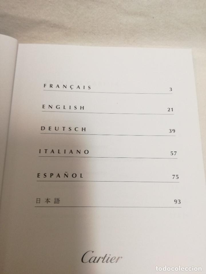 Herramientas de relojes: MANUAL DE INSTRUCCIONES EN ESPAÑOL ENTRE OTROS, CERTIFICADO DE GARANTIA SELLADO 1998 RELOJ CARTIER - Foto 5 - 177774284