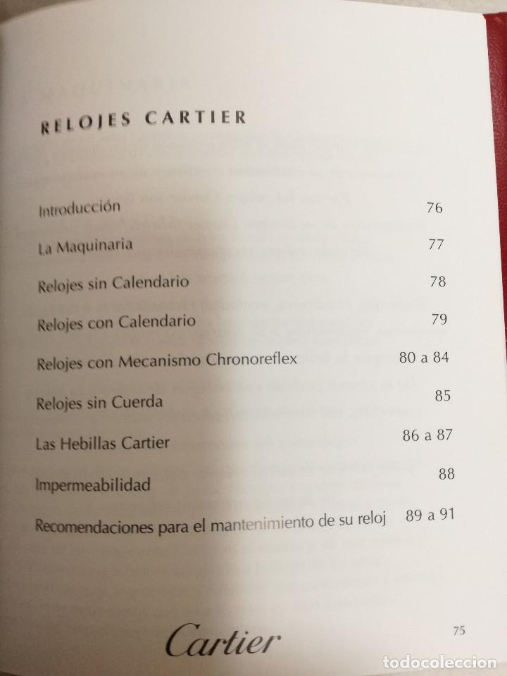Herramientas de relojes: MANUAL DE INSTRUCCIONES EN ESPAÑOL ENTRE OTROS, CERTIFICADO DE GARANTIA SELLADO 1998 RELOJ CARTIER - Foto 7 - 177774284