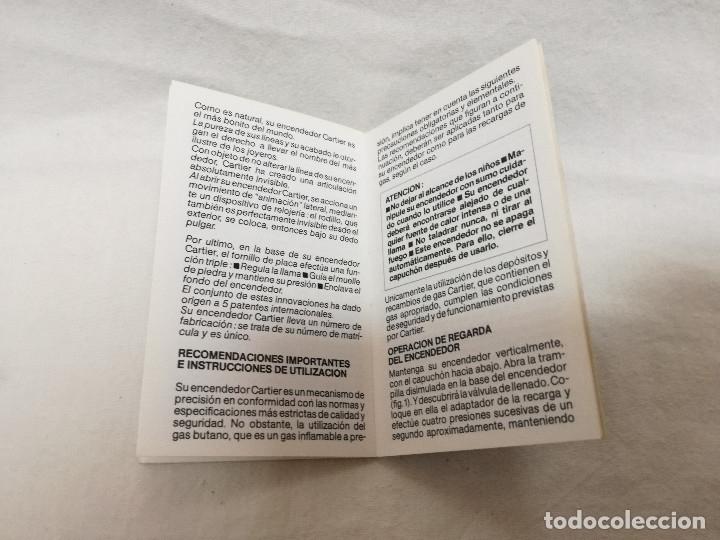 Herramientas de relojes: MANUAL DE INSTRUCCIONES + EXTRACTOR - RELOJ / ENCENDEDOR LES MUST DE CARTIER - Foto 4 - 177774732