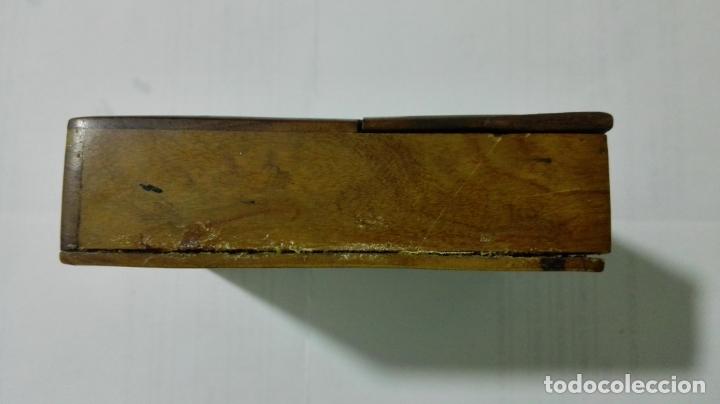 Herramientas de relojes: EXPOSITOR RELOJ DE BOLSILLO, MADERA CON PINTURA FLORAL - Foto 3 - 182795451