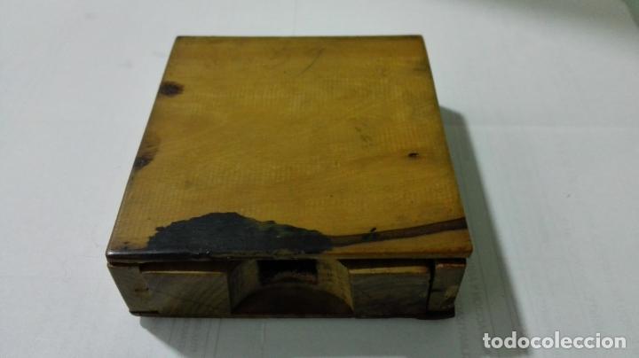 Herramientas de relojes: EXPOSITOR RELOJ DE BOLSILLO, MADERA CON PINTURA FLORAL - Foto 4 - 182795451