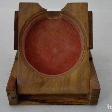 Herramientas de relojes: EXPOSITOR RELOJ DE BOLSILLO, MADERA CON PINTURA FLORAL . Lote 182795451
