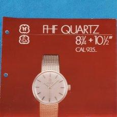 Herramientas de relojes: GUÍAS DE DESPIECE FHF Y ETA-FLASHLINE QUARTZ. Lote 183029596