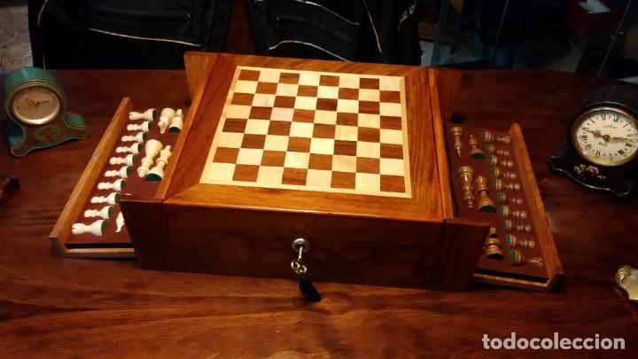Herramientas de relojes: Botita caja con llave para guardar tábaco, relojes, joyas o lo que se quiera, creo que de cedro - Foto 5 - 183865775