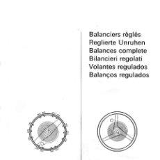 Herramientas de relojes: VOLANTES RONDA - CATALOGO DE REFERENCIAS - COPIA DE EDICION 1968 - 66 PAGINAS. Lote 186196656