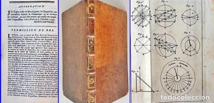 AÑO 1744: GNOMÓNICA: EL ARTE DE DISEÑAR, CALCULAR Y TRAZAR RELOJES DE SOL. MUY RARO. DESPLEGABLES. (Relojes - Herramientas y Útiles de Relojero )