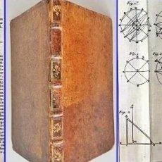 Herramientas de relojes: AÑO 1744: GNOMÓNICA: EL ARTE DE DISEÑAR, CALCULAR Y TRAZAR RELOJES DE SOL. MUY RARO. DESPLEGABLES.. Lote 190803358