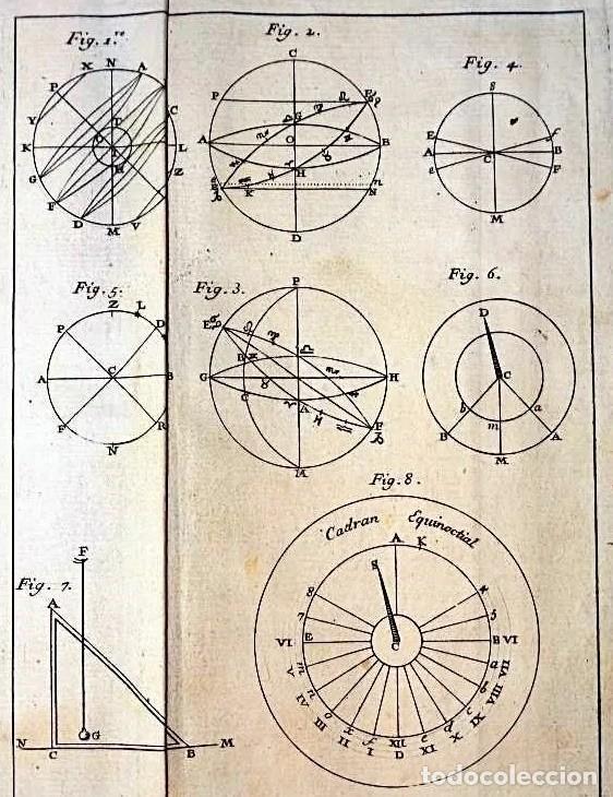 Herramientas de relojes: AÑO 1744: GNOMÓNICA: EL ARTE DE DISEÑAR, CALCULAR Y TRAZAR RELOJES DE SOL. MUY RARO. DESPLEGABLES. - Foto 2 - 190803358