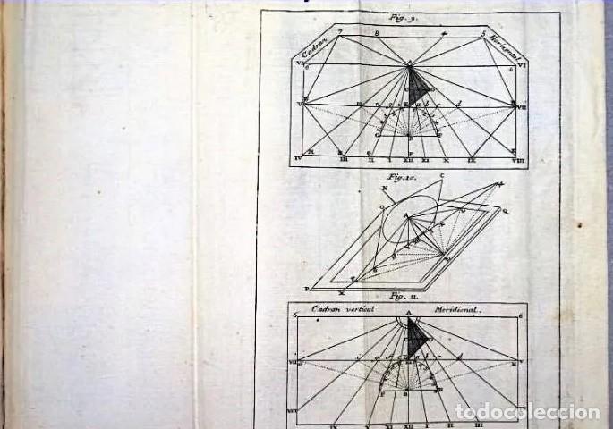 Herramientas de relojes: AÑO 1744: GNOMÓNICA: EL ARTE DE DISEÑAR, CALCULAR Y TRAZAR RELOJES DE SOL. MUY RARO. DESPLEGABLES. - Foto 3 - 190803358