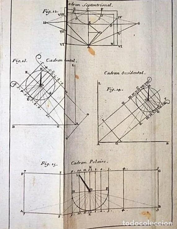 Herramientas de relojes: AÑO 1744: GNOMÓNICA: EL ARTE DE DISEÑAR, CALCULAR Y TRAZAR RELOJES DE SOL. MUY RARO. DESPLEGABLES. - Foto 4 - 190803358