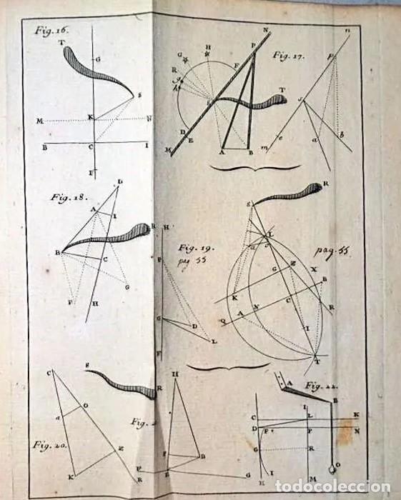 Herramientas de relojes: AÑO 1744: GNOMÓNICA: EL ARTE DE DISEÑAR, CALCULAR Y TRAZAR RELOJES DE SOL. MUY RARO. DESPLEGABLES. - Foto 5 - 190803358