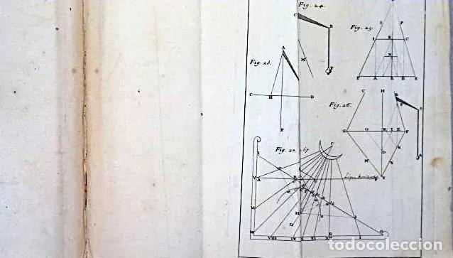 Herramientas de relojes: AÑO 1744: GNOMÓNICA: EL ARTE DE DISEÑAR, CALCULAR Y TRAZAR RELOJES DE SOL. MUY RARO. DESPLEGABLES. - Foto 6 - 190803358