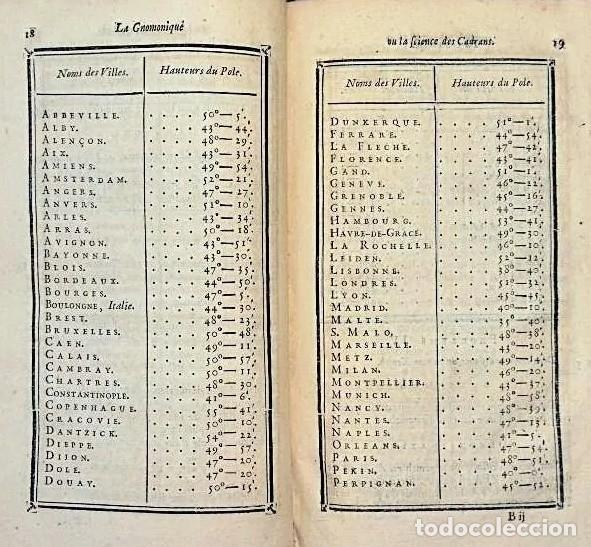 Herramientas de relojes: AÑO 1744: GNOMÓNICA: EL ARTE DE DISEÑAR, CALCULAR Y TRAZAR RELOJES DE SOL. MUY RARO. DESPLEGABLES. - Foto 11 - 190803358