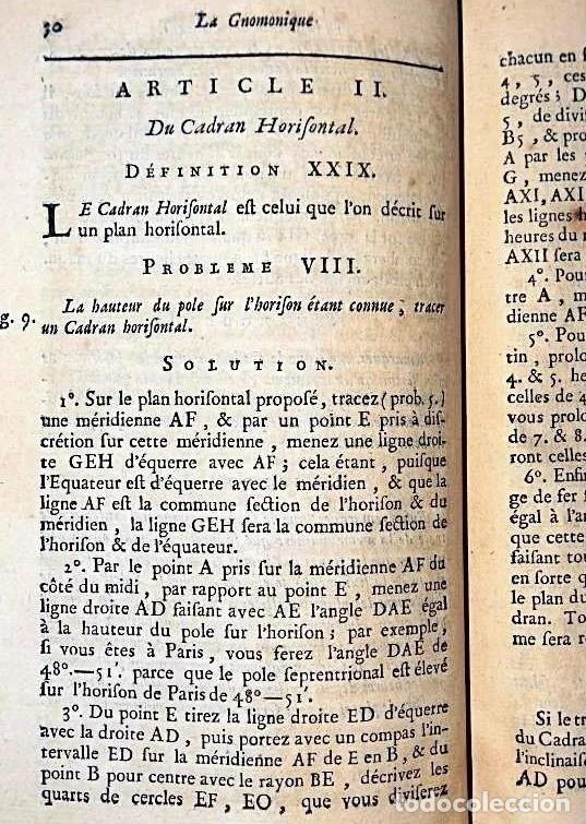 Herramientas de relojes: AÑO 1744: GNOMÓNICA: EL ARTE DE DISEÑAR, CALCULAR Y TRAZAR RELOJES DE SOL. MUY RARO. DESPLEGABLES. - Foto 13 - 190803358