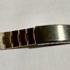 Herramientas de relojes: PULSERA DE ACERO INOX Y DORADA PARA RELOJES DE MUJER . 145,5 X 12 M/M.. Lote 194316195