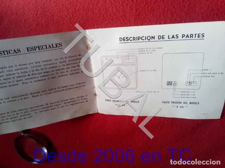 Herramientas de relojes: TUBAL TWENCO RELOJ CALENDARIO ELECTRICO MANUAL DE INSTRUCCIONES U23 - Foto 2 - 194717403