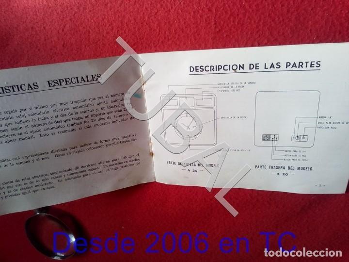 Herramientas de relojes: TUBAL TWENCO RELOJ CALENDARIO ELECTRICO MANUAL DE INSTRUCCIONES U23 - Foto 3 - 194717403