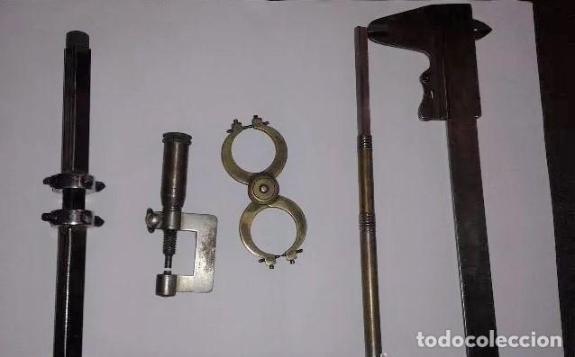 LOTE DE 5 HERRAMIENTAS DE RELOJERO, VER IMÁGENES, PARECEN BASTANTE ANTIGUAS. (Relojes - Herramientas y Útiles de Relojero )