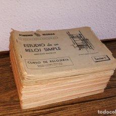 Herramientas de relojes: CURSO DE RELOJERIA. Lote 203097566