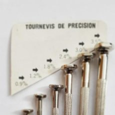Herramientas de relojes: 90-JUEGO DESTORNILLADORES DE 0'9 A 3'5 MM.. Lote 204461575