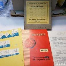 Ferramentas para relógios: CATALOGO DE RELOJERO USIBEL PARA CUERDAS DE RELOJ AÑOS 1964 EN BLISTER Y RECAMBIOS. Lote 205342700