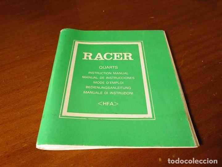 MANUAL DE INSTRUCCIONES RELOJ RACER QUARTS HFA WATCH (Relojes - Herramientas y Útiles de Relojero )