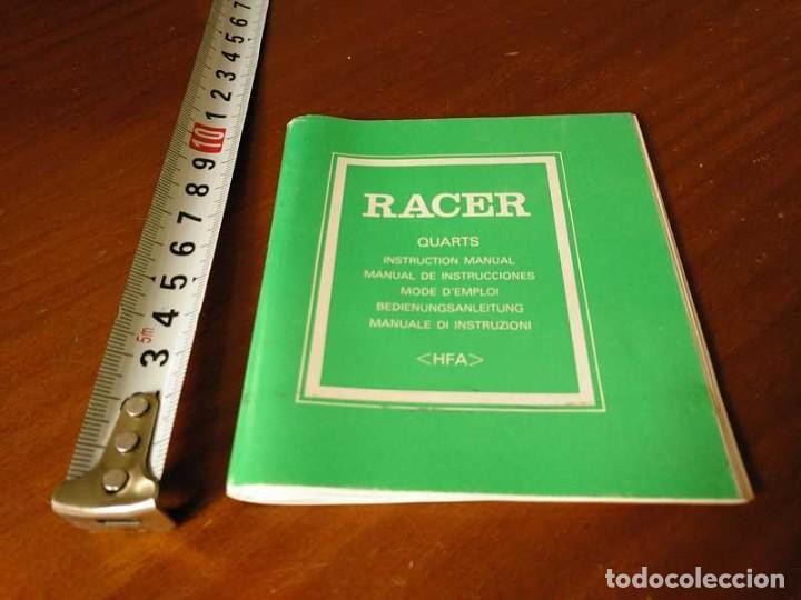 Herramientas de relojes: MANUAL DE INSTRUCCIONES RELOJ RACER QUARTS HFA WATCH - Foto 16 - 206888083
