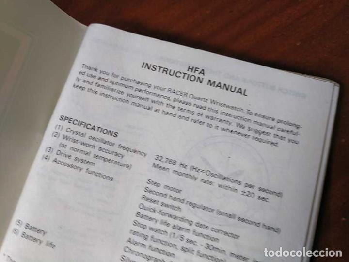 Herramientas de relojes: MANUAL DE INSTRUCCIONES RELOJ RACER QUARTS HFA WATCH - Foto 18 - 206888083
