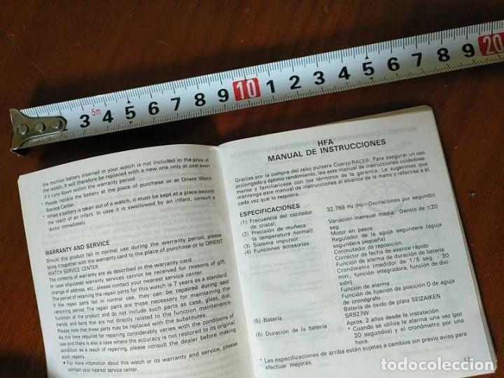 Herramientas de relojes: MANUAL DE INSTRUCCIONES RELOJ RACER QUARTS HFA WATCH - Foto 20 - 206888083