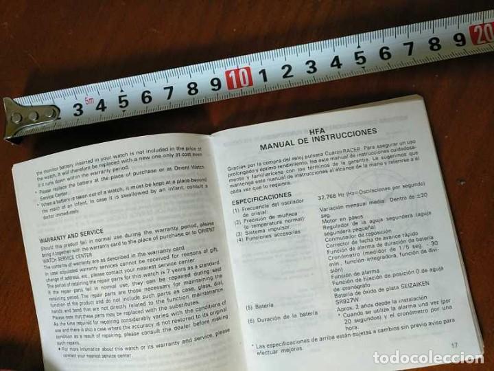 Herramientas de relojes: MANUAL DE INSTRUCCIONES RELOJ RACER QUARTS HFA WATCH - Foto 21 - 206888083