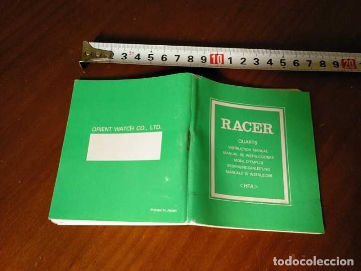 Herramientas de relojes: MANUAL DE INSTRUCCIONES RELOJ RACER QUARTS HFA WATCH - Foto 31 - 206888083