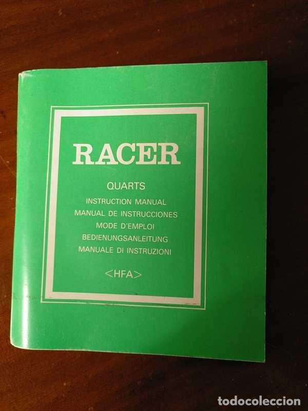 Herramientas de relojes: MANUAL DE INSTRUCCIONES RELOJ RACER QUARTS HFA WATCH - Foto 35 - 206888083