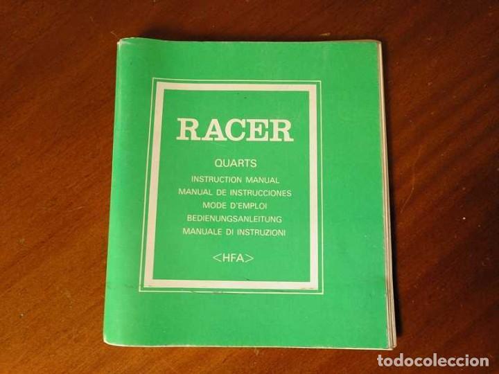 Herramientas de relojes: MANUAL DE INSTRUCCIONES RELOJ RACER QUARTS HFA WATCH - Foto 40 - 206888083