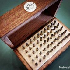 Ferramentas para relógios: BOLEY CAJA DE 50 PUNZONES. IMPECABLE.. Lote 208484046