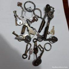 Herramientas de relojes: SURTIDO DE LLAVECITAS Y MOSQUETONES. Lote 209686086